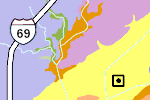 Allen County Map Thumbnail