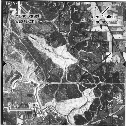 EXAMPLE OF AN HISTORICAL AERIAL PHOTO