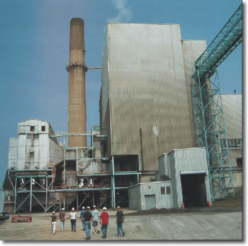Photo showing coal-fired power plant.