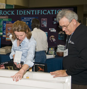 Part of the IGS booth at HASTI 2010.