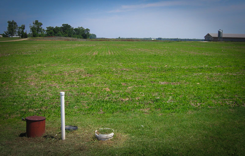 Image of a ground well on an indiana farm