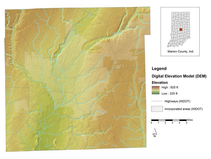 Data Sets DEM Terrain - Terrain elevation data