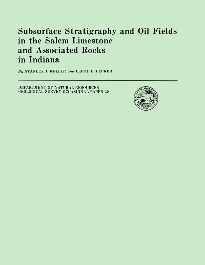 Subsurface stratigraphy and oil fields in the Salem Limestone and