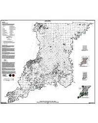 Knox County Indiana Map.Petroleum Well Location Map Of Knox County Indiana Showing Well