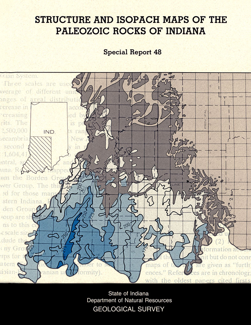 Structure and isopach maps of the Paleozoic rocks of Indiana on indiana division of reclamation, kentucky geological survey maps, wyoming department of transportation maps,