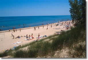 Summer day at a Lake Michigan Beach