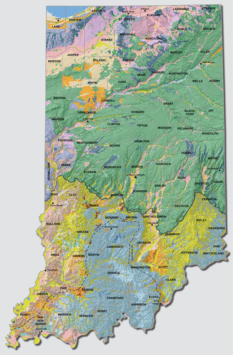 Surficial Geology | Indiana Geological & Water Survey